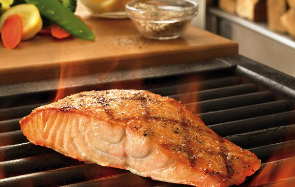 Grilled Salmon with Izhiman seafood spice mix