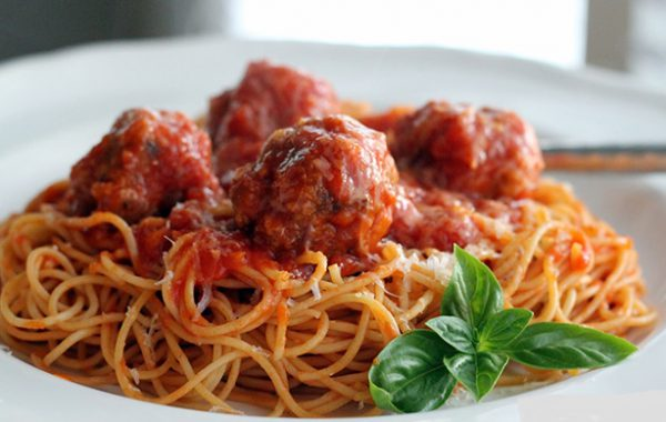 Cheesy Meatballs Spaghetti